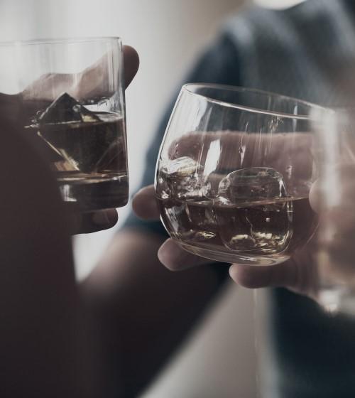Whiskey Glass Ice